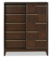 Geo Chest with Sliding Door