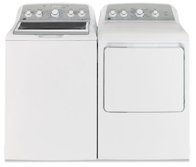 GE 5.0 Cu. Ft. Top-Load Washer with Stainless Steel Drum and 7.2 Cu. Ft. Electric Dryer