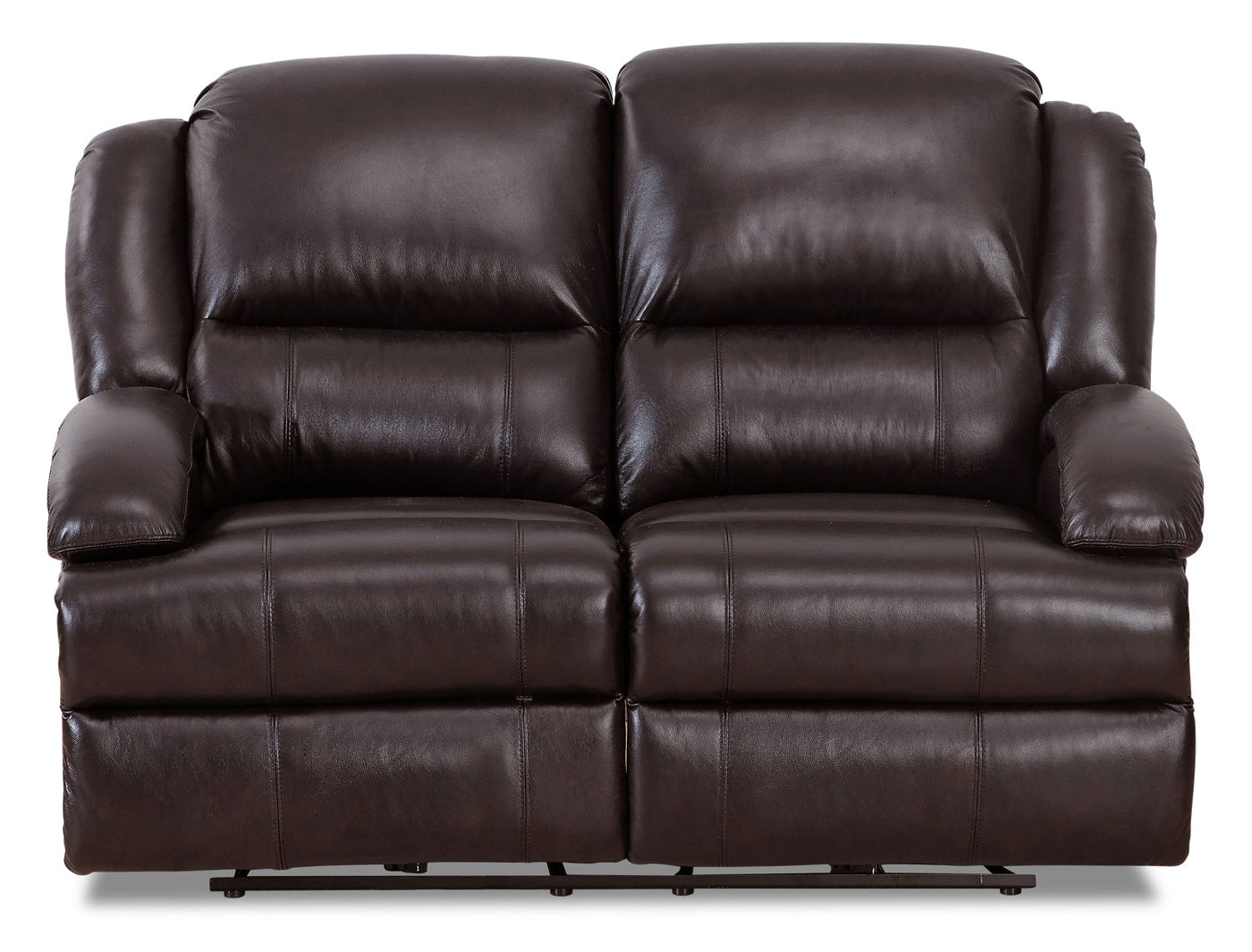 Giovanni Genuine Leather Power Reclining Loveseat With Power Lumbar The Brick