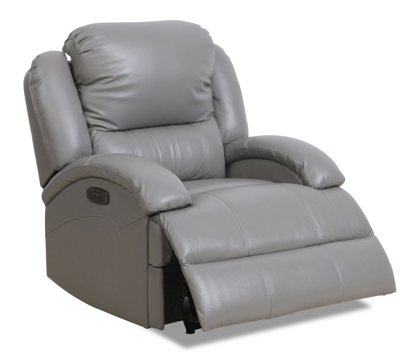 Fine Giovanni Genuine Leather Power Recliner With Power Lumbar Grey Cjindustries Chair Design For Home Cjindustriesco
