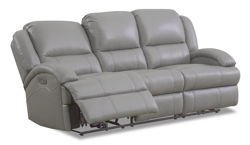 Giovanni Genuine Leather Power Reclining Sofa With Power