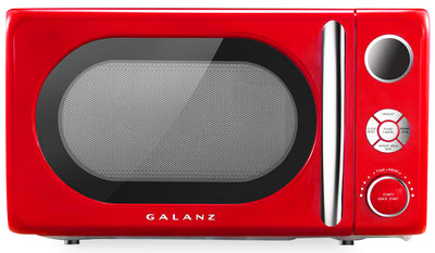 Galanz 0.7 Cu. Ft. Retro Countertop Microwave in Hot Rod Red - GLCMKA07RD-07 | Four à micro-ondes de comptoir Galanz rétro de 0,7 pi3 rouge Hot Rod - GLCMKA07RD-07 | GLCMKARD