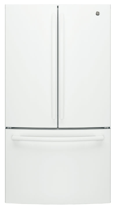 GE 27 Cu. Ft. French-Door Refrigerator - GNE27JGMWW - Refrigerator in White