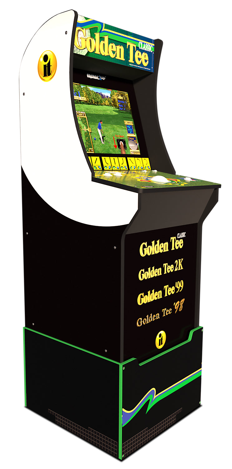 Arcade1Up Golden Tee™ Arcade Cabinet with Riser | Borne de jeu Arcade1Up Golden Tee avec platforme | GOLDNTEE
