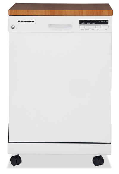 GE Portable Dishwasher with Stainless Steel Tub – GPF400SGFWW|Lave-vaisselle portatif GE avec cuve en acier inoxydable – GPF400SGFWW|GPF400SGF