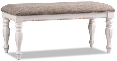 Grace Bench – Antique White|Banc Grace - blanc antique|GRACW0BN