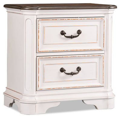 Grace Nightstand – Antique White - {Country} style Nightstand in Antique White {Poplar}