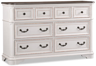 Grace Dresser - Antique White - {Country} style Dresser in Antique White {Poplar}