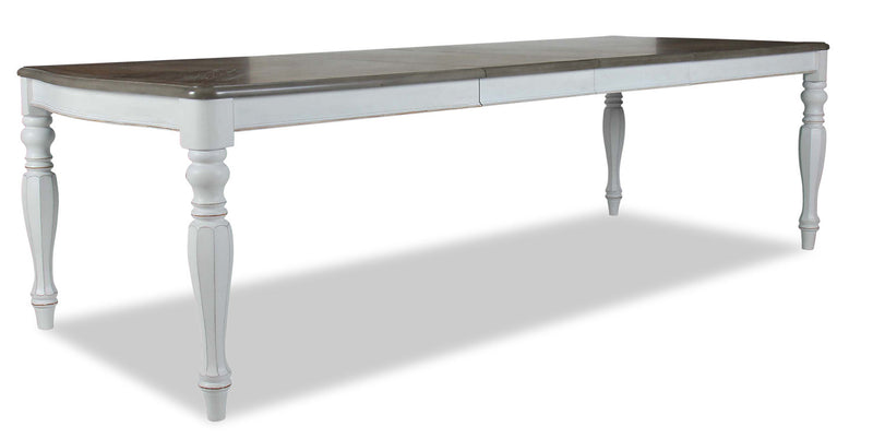 Grace Dining Table - {Country} style Dining Table in Antique White {Poplar}, {Oak}