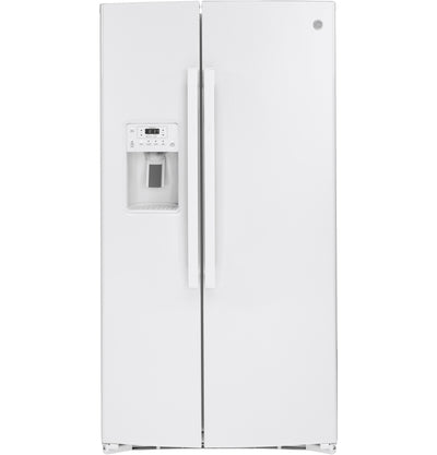 GE 25.2 Cu. Ft. Side-by-Side Refrigerator - GSS25IGNWW - Refrigerator in White