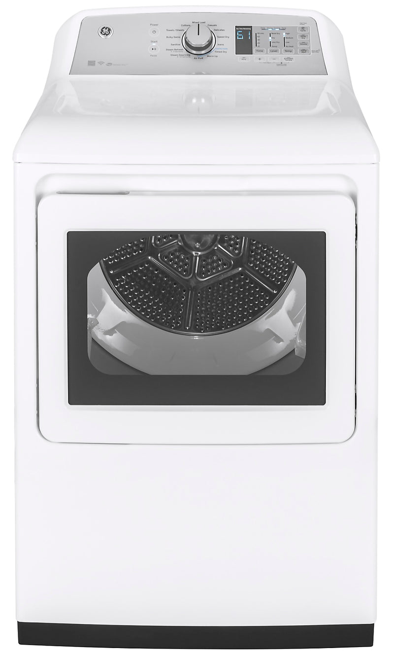 GE 7.4 Cu. Ft. Gas Dryer with Wi-Fi Connect - GTD75GCMLWS|Sécheuse à gaz GE 7,4 pi3 avec connectivité Wi-Fi - GTD75GCMLWS|GTD75GWS