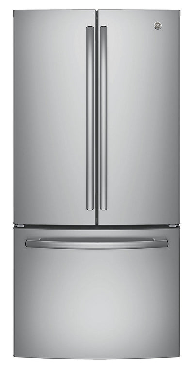 GE 18.6 Cu. Ft. Counter-Depth French-Door Refrigerator - GWE19JSLSS - Refrigerator in Stainless Steel