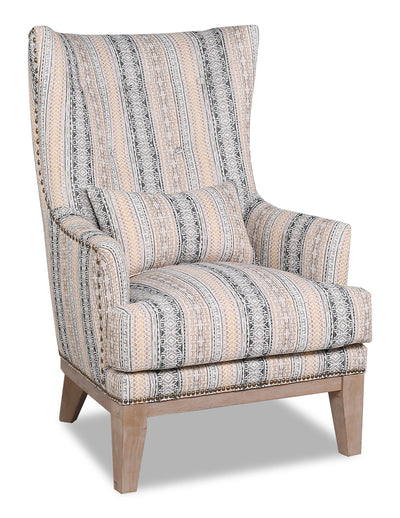 Haden Fabric Accent Chair - Passages Earthen - {Contemporary} style Accent Chair in Passages Earthen {Plywood}, {Solid Woods}