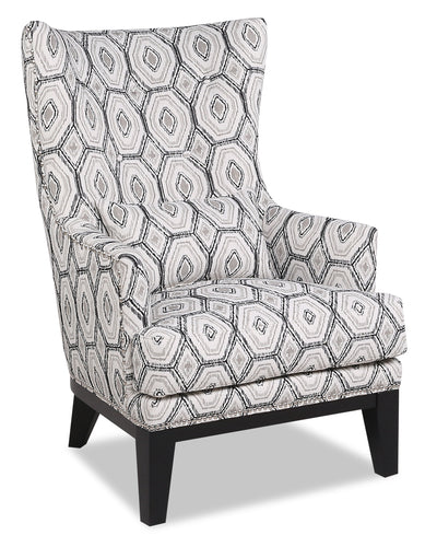 Haden Fabric Accent Chair - Onyx - {Contemporary} style Accent Chair in Onyx {Plywood}, {Solid Woods}