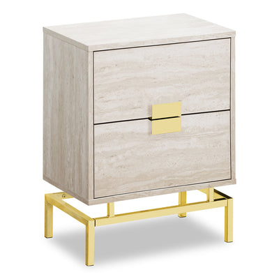 Hanna Beige Marble Accent Table