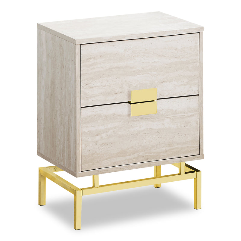 Hanna Beige Marble Accent Table | Table d'appoint Hanna en marbre beige