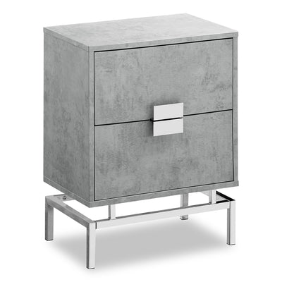 Hanna Grey Accent Table - {Contemporary}, {Industrial}, {Modern}, {Retro} style End Table {Medium Density Fibreboard (MDF)}