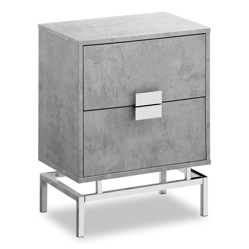 Hanna Grey Accent Table | Table d'appoint Hanna en marbre beige