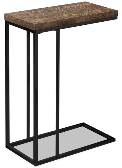 Harper Reclaimed Wood-Look Chairside Table - Brown