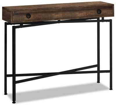 Harper Reclaimed Wood-Look Sofa Table - Brown