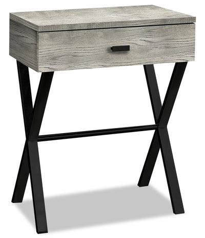 Harper Reclaimed Wood-Look Accent Table - Grey|Table d'appoint Harper à l'apparence de bois recyclé - grise|HARGRACC