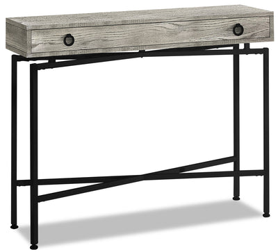 Harper Reclaimed Wood-Look Sofa Table - Grey
