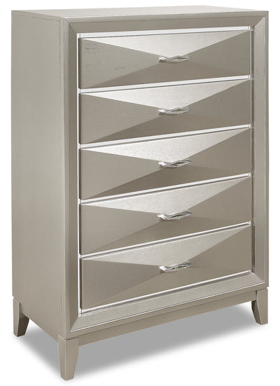 Harlow Chest - {Glam} style Chest in Silver Champagne {Rubberwood}