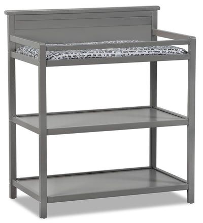 Harper Changing Station with Changing Pad - Dove Grey|Table à langer Harper avec matelas à langer - gris tourterelle|HARPG0CT