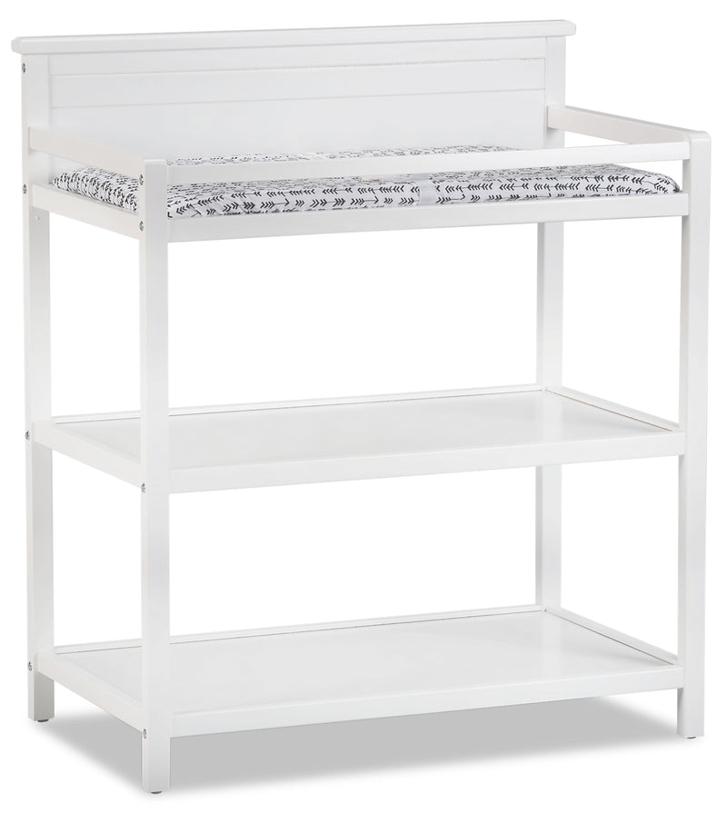 Harper Changing Station with Changing Pad – Snow White|Table à langer Harper avec matelas à langer - blanc neige