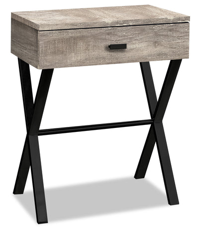 Harper Reclaimed Wood-Look Accent Table - Taupe
