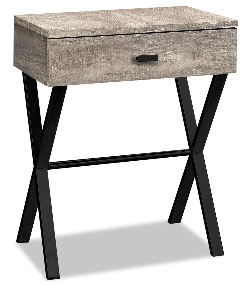 Harper Reclaimed Wood-Look Accent Table - Taupe|Table d'appoint Harper à l'apparence de bois recyclé - taupe