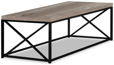 Harper Reclaimed Wood Look Coffee Table - Taupe