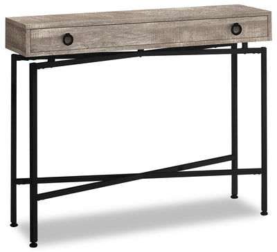 Harper Reclaimed Wood-Look Sofa Table - Taupe