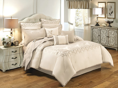 New Haven 10-Piece King Comforter Set - Gold Comforter Set