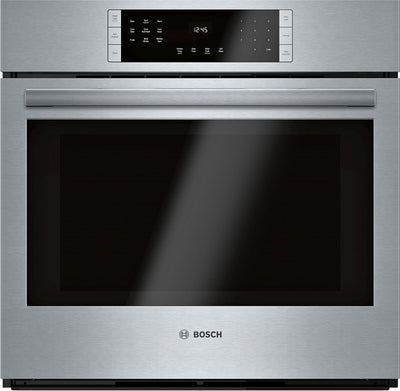 Bosch 4.6 Cu. Ft. 800 Series Smart Single Wall Oven - HBL8453UC|Four mural simple intelligent Bosch de série 800 de 4,6 pi3 - HBL8453UC|HBL8453U