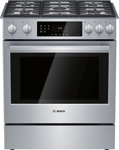 Bosch 4.8 Cu. Ft. 800 Series Slide-In Gas Range - HGI8056UC