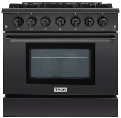 Thor Kitchen 5.2 Cu. Ft. Freestanding Gas Range - HRG3618U-BS|Cuisinière amovible à gaz Thor Kitchen de 5,2 pi³ – HRG3618U-BS|HRG3618B