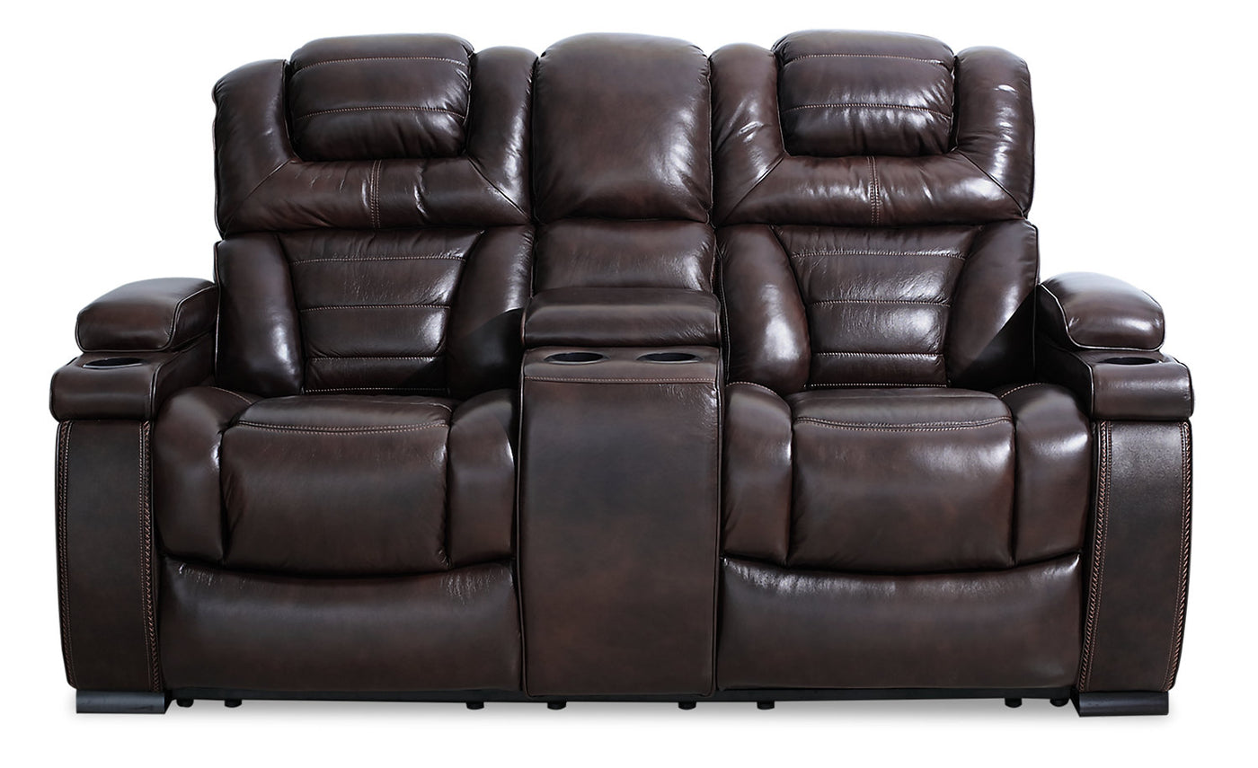 Prime Hugo Genuine Leather Power Reclining Loveseat Brown Inzonedesignstudio Interior Chair Design Inzonedesignstudiocom