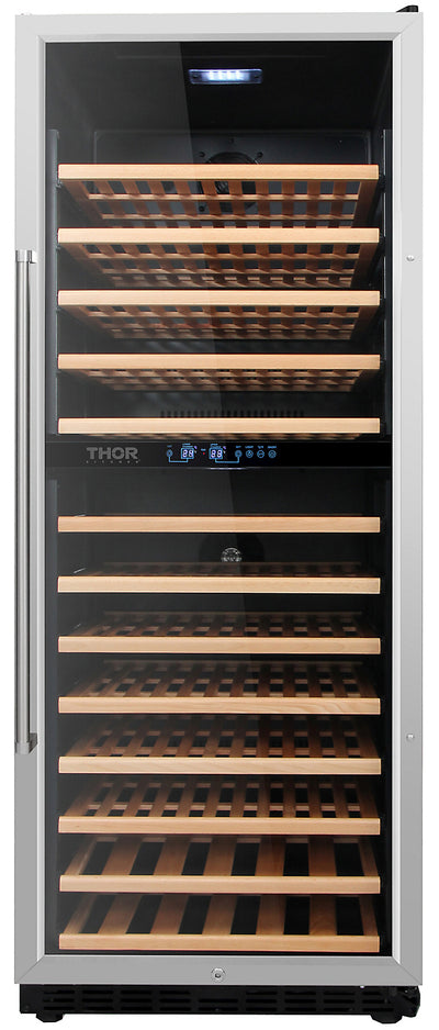 Thor Kitchen Dual Zone Built-In Wine Cooler - HWC2408U-SS|Refroidisseur à vin encastré Thor Kitchen à 2 zones - HWC2408U-SS|HWC2408S