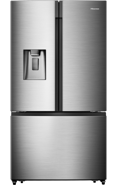 Hisense 21.1 Cu. Ft. French-Door Counter-Depth Refrigerator with Ice and Water - RF208N6CSE - Refrigerator in Fingerprint-Resistant Stainless Steel