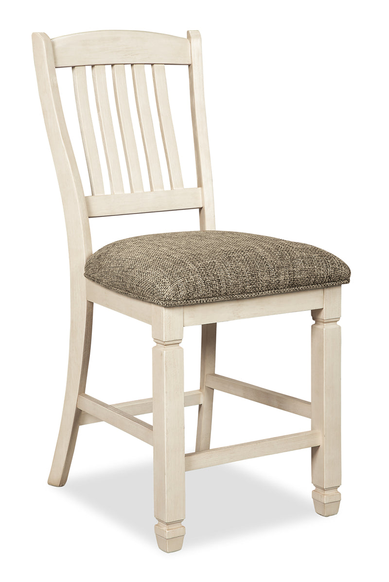 Ilsa Counter-Height Dining Chair - {Country} style Dining Chair in Antique White {Asian Hardwood}