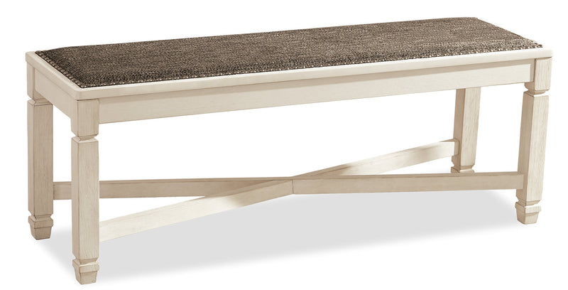 Ilsa Dining Bench - {Country} style Dining Bench in Antique White {Asian Hardwood}