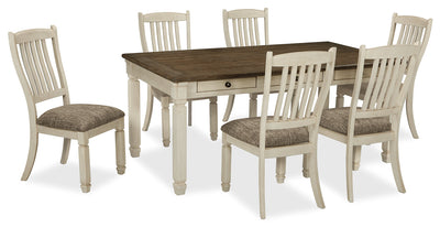 Ilsa 7-Piece Dining Package - {Country} style Dining Room Set in Antique White {Asian Hardwood}