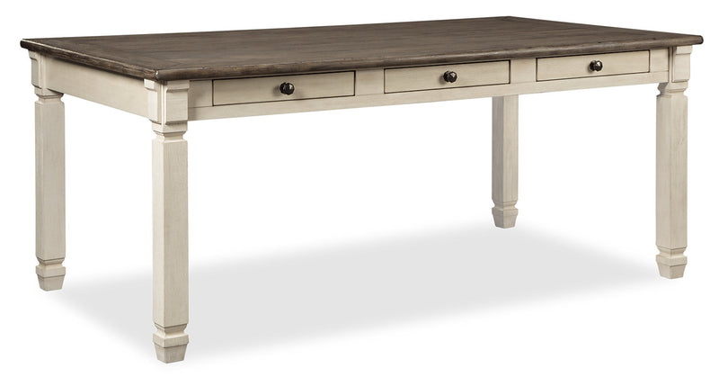 Ilsa Dining Table - {Country} style Dining Table in Antique White {Asian Hardwood}