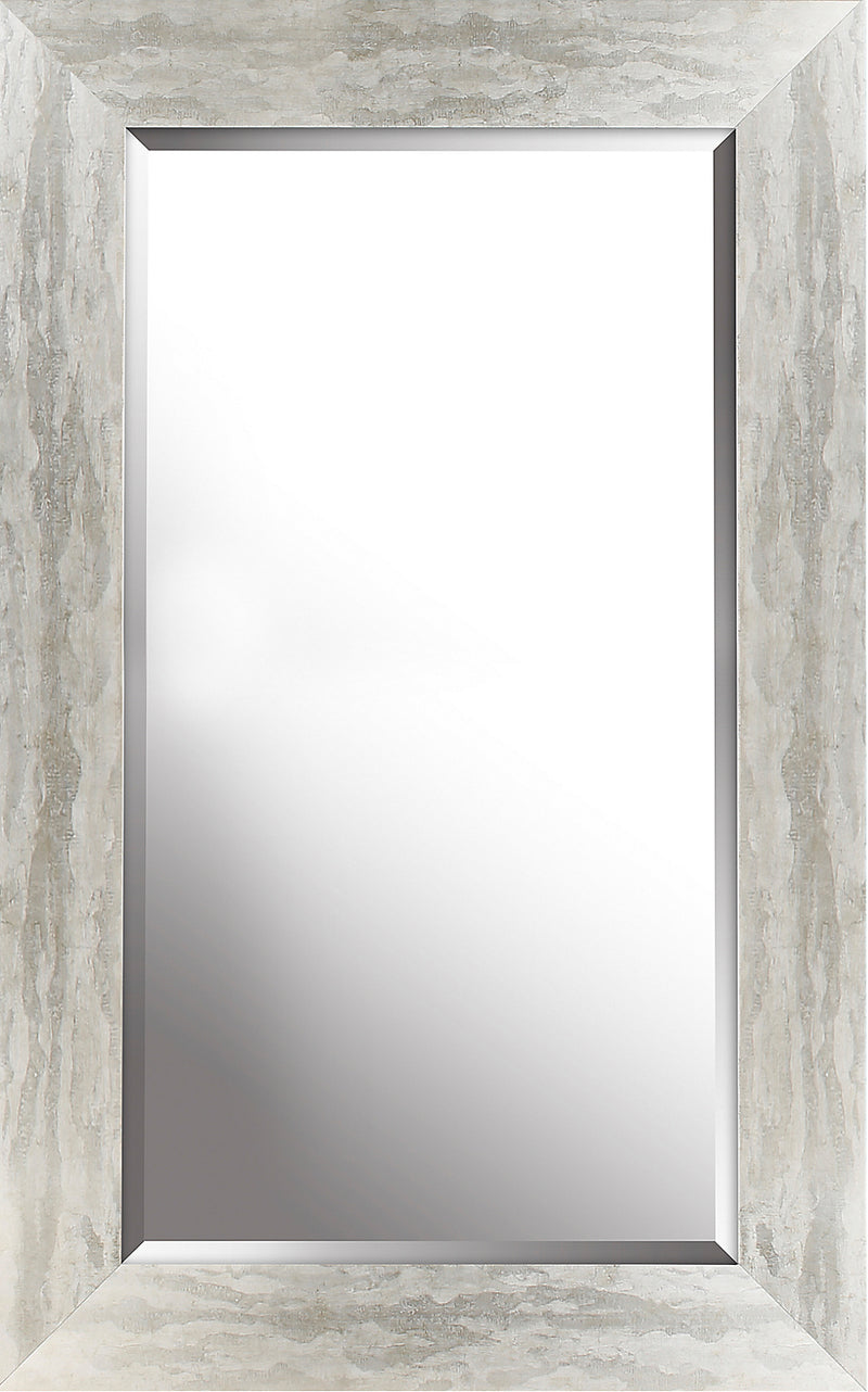 "Antiqued Silver Finish Mirror - 26.5"" x 42.5""