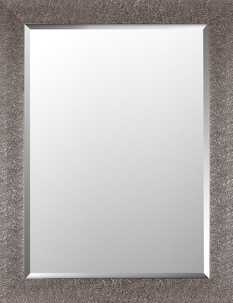 "Crackled Antiqued Silver Finish - 26.5"" x 34.5""