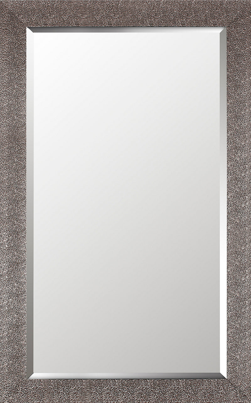 "Crackled Antique Silver Finish - 26.5"" x 42.5""