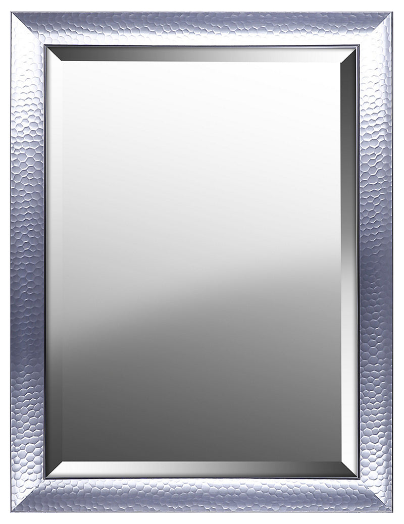 "Hexagon Pattern with Silver Gloss Mirror - 25"" x 33""