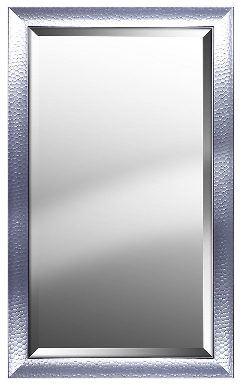 "Hexagon Pattern with Silver Gloss Mirror - 25"" x 41""