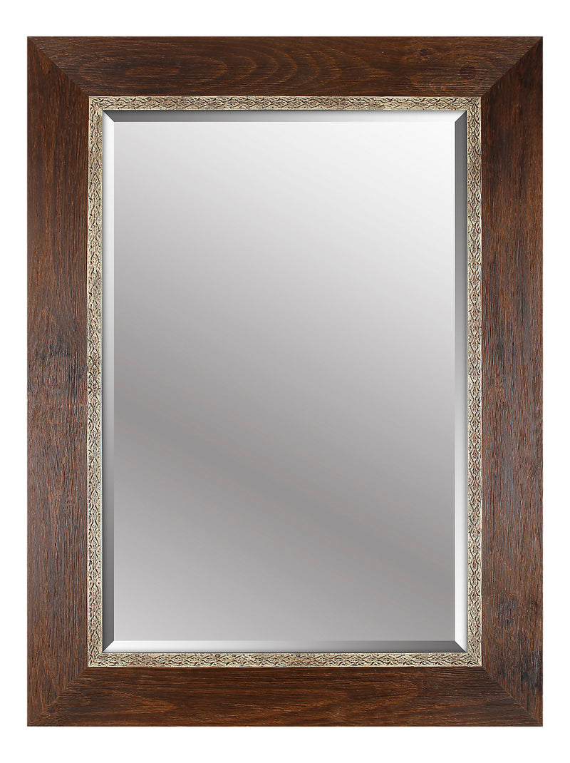"Brown Wood Mirror - 34"" x 46""